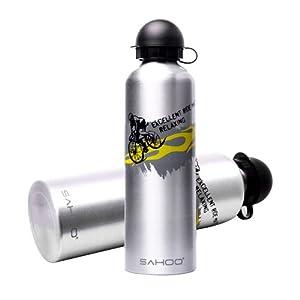 Roswheel Wandertrinkflasche Getränkflasche Sporttrinkflasche Outdoor Wasserflasche Thermostrinkflasche Fahrradtrinkflasche 750ml Aluminium Silber