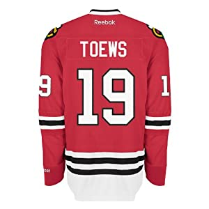 Jonathan Toews Chicago Blackhawks Reebok Premier Replica Home NHL Hockey Jersey Size S