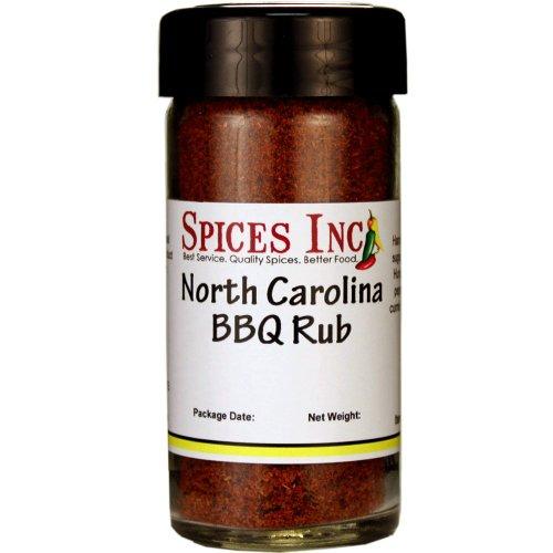 Spices Inc. North Carolina BBQ Rub 1/2 Cup Glass Jar (2.9 Oz Net Wt)