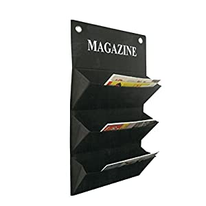 More design magazine porte revue mural tissu noir amazon for Porte revue mural design