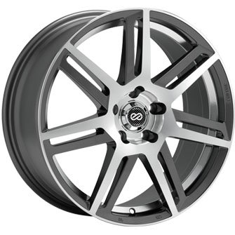 Enkei ALETTA Gunmetal Machine (17x7.5 +38 4x100) 