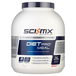 SCI-MX Nutrition Diet Pro Meal 2 kg Strawberry - High protein meal shake with diet-support nutrients