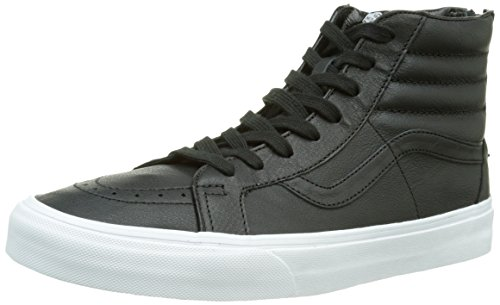 Vans Sk8-hi Reissue Zip Scarpe da Ginnastica Alte, Unisex - Adulto, Nero (premium Leather/black/true White), 44.5  EU