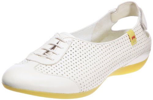 Camper Women's Micro Lace-Up Flats White Blanc cassé 4 (37 EU)