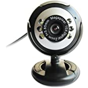 SODIAL R USB 30.0M 6 LED Webcam Camera Web Cam With Mic For Desktop PC Laptop