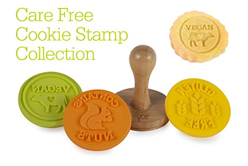 Core Care Free Food Allergy Cookie Stamps, Vegan, Gluten Free, and Contains Nuts