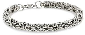 Stainless Steel Byzantine Bracelet, 8