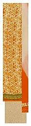 Mahalaxmi Lady Culture Women's Cotton Unstitched Dress Material (Orange and Beige)