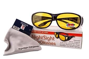 Opticaid Surlunettes à verres polarisants à porter par dessus vos lunettes correctrices pour conduite de nuit
