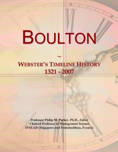 Boulton: Webster'S Timeline History, 1321 - 2007