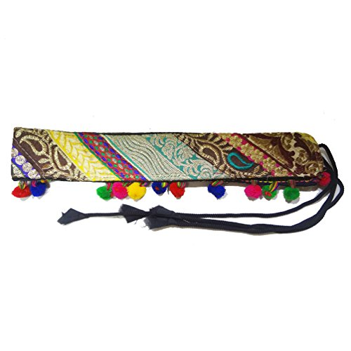[Belly Dance Ethnic Indian Gypsy Embroidered Belt Costume Accessory Fashion Belt] (Banjara Dance Costumes)