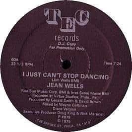 Jean Wells I Just Cant Stop Dancing Remixed