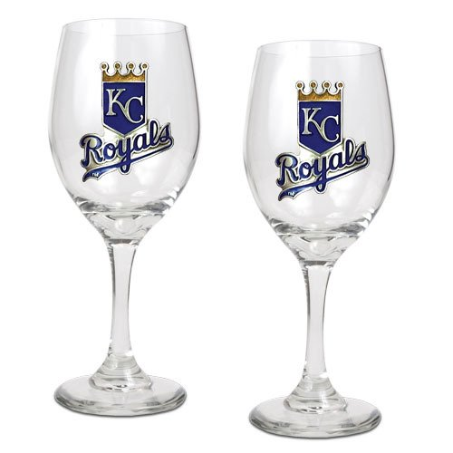 IFS - Kansas City Royals MLB 2pc Wine Glass Set - Primary Logo at Amazon.com