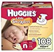 Huggies Little Snugglers Diapers born Up To 10 Lbs 108 Ct from Huggies