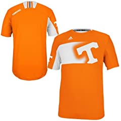 NCAA adidas Tennessee Volunteers Players Crew Performance T-Shirt - Tennessee Orange by adidas