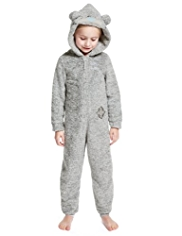 Hooded Tatty Teddy Fleece Onesie