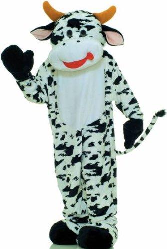Forum Deluxe Plush Cow Mascot Costume, Black