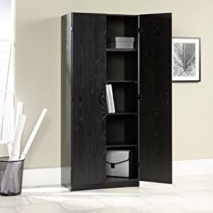 freestanding storage cabinet pantry ebony ash finish free standing cabinets. Black Bedroom Furniture Sets. Home Design Ideas