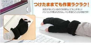 サンワダイレクト あったかUSB手袋 ブラック 400-TOY020BK