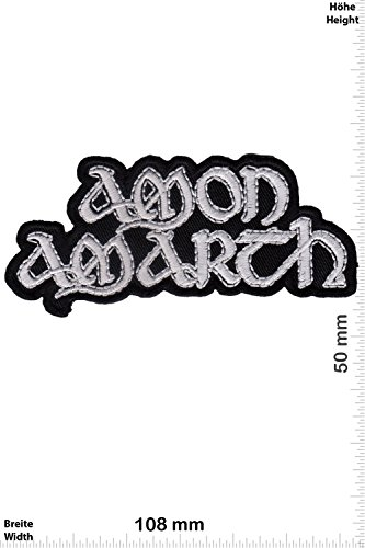 Patch - Amon Amarth - silver font - Melodic-Death-Metal - MusicPatch - Rock - Chaleco - toppa - applicazione - Ricamato termo-adesivo - Give Away