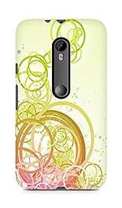 AMEZ designer printed 3d premium high quality back case cover for Motorola Moto G3 (circles yellow)
