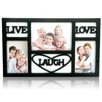 live laugh love black frame collage frames