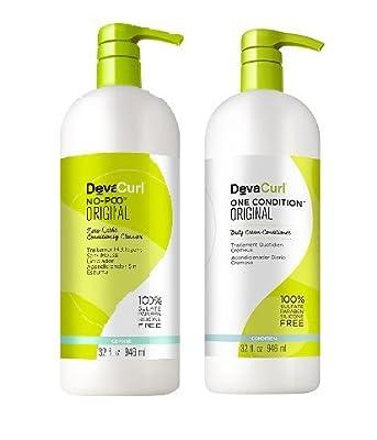 Devacurl Original Duo No-Poo and One Condition, 32 fl. oz.
