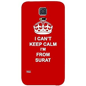 Skin4gadgets I CAN'T KEEP CALM I'm FROM SURAT - Colour - Red Phone Skin for SAMSUNG GALAXY S5 MINI