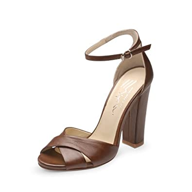 Evita Shoes Damen Sandalette 39, braun