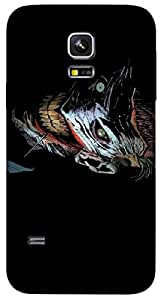 Timpax protective Armor Hard Bumper Back Case Cover. Multicolor printed on 3 Dimensional case with latest & finest graphic design art. Compatible with Samsung Galaxy S-5-Mini Design No : TDZ-27011