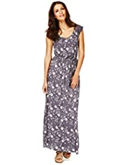Indigo Collection Dandelion Print Maxi Dress
