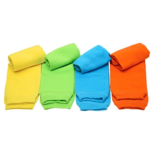 Judanzys Neon Bright Solid 4-Pack Leg Warmers For Babies, Toddler, Child