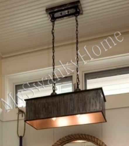 28 Oxidized Copper Metal Pendant Chandelier 2 Light