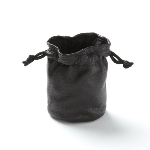 Buy Drawstring Pouch - Black Onyx Leather (black) - Full Grain Leather