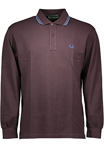 FRED PERRY POLO MANICHE LUNGHE Uomo MARRONE