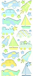 Martha Stewart Crafts Chipboard Stickers, Boy Planes and Trains