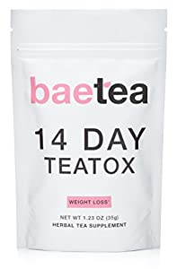 Baetea Weight Loss Tea: Detox, Body Cleanse, Reduce Bloating, & Appetite Suppressant, 14 Day Teatox, with Potent Traditional Organic Herbs, Ultimate Way to Calm and Cleanse Your Body by Baetea