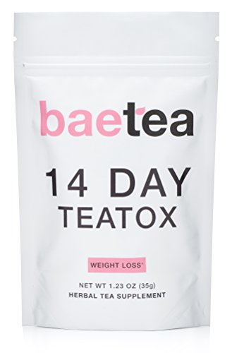 Baetea Weight Loss Tea: Detox, Body Cleanse, Reduce Bloating, & Appetite Suppressant, 14 Day Teatox, with Potent Traditional Organic Herbs, Ultimate Way to Calm and Cleanse Your Body