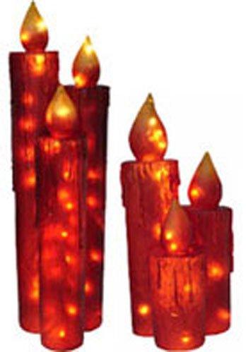 Giant Red Illuminated Candle Sets