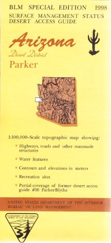 Arizona [California] Desert District: Parker : 1:100,000-Scale Topographic Map : 30 X 60 Minute Series (Topographic) (Desert Access Guide) front-1067546