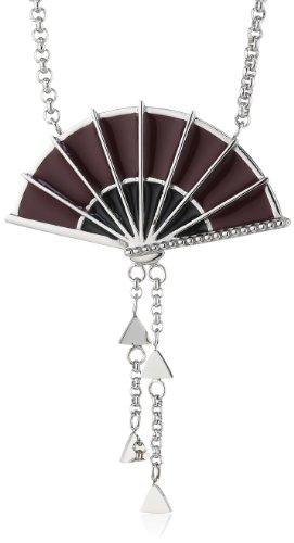Miss Sixty SMXJ01 - Catenina con pendente da donna, acciaio inossidabile e smalto