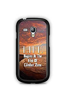 YuBingo Life Begins at the end of Comfort Zone Designer Mobile Case Back Cover for Samsung Galaxy S3 Mini