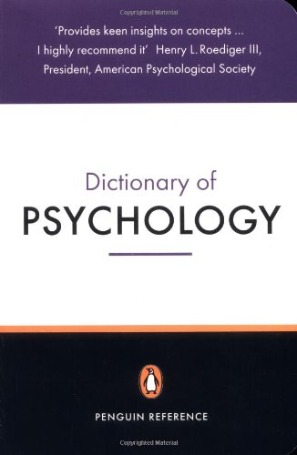 The Penguin Dictionary Of Psychology (Penguin Dictionary)