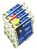 4x T0445 FCI Compatible Ink Cartridges to replace Epson T0445 (Contains: 1x T0441, 1x T0442, 1x T0443, 1x T0444)