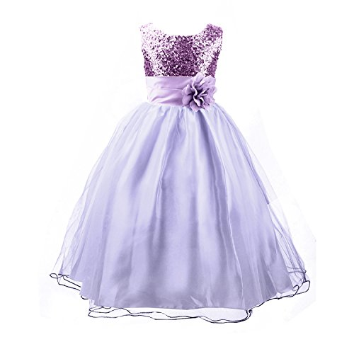 Acediscoball Girls'Flower Party Wedding Gown Bridesmaid Tulle Ruffle Dress