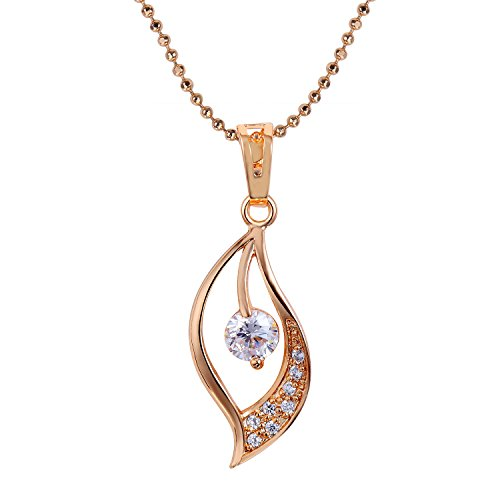 Snowman Lee Secret Eyes Womens 18k Rose Gold Plated Yellow Chain Drop Pendant Necklace
