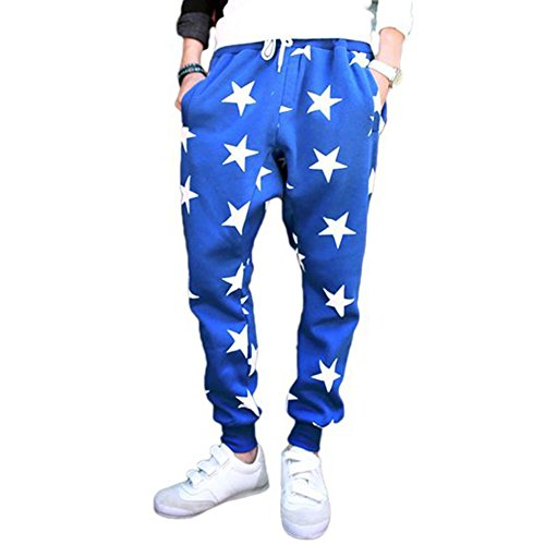 Cottory Men'S Youth Fashion Stars Loose Dancing Sports Pants