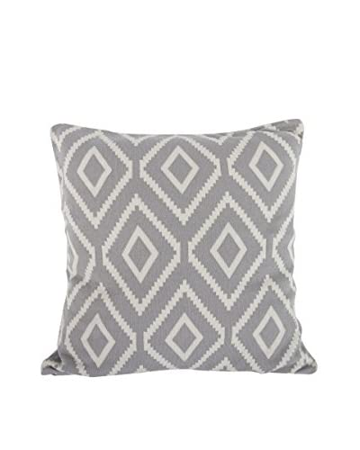 A&B Home Cotton Polo Pillow, Grey