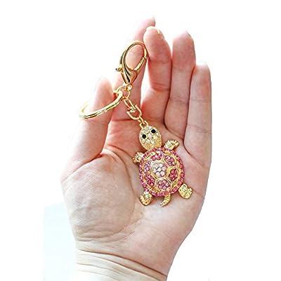 Couleur Rouge Pendentif en cristal strass tortue porte-clés breloque sac à main sac porte-clés chaîne cadeau nouvelle collection 2016