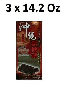 Pure Japanese Okinawa Black Sugar Brick- Pack of three, 14.28-ounces each